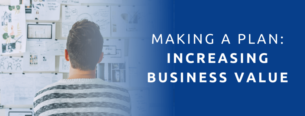 Making a plan to increase your business's annual revenue.